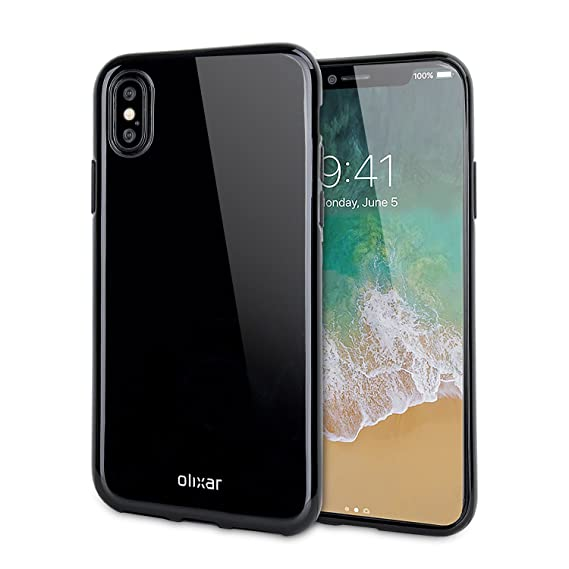 premium selection 92747 e596a Olixar Jet Black iPhone X Gel Case - FlexiShield - Wireless Charging  Compatible