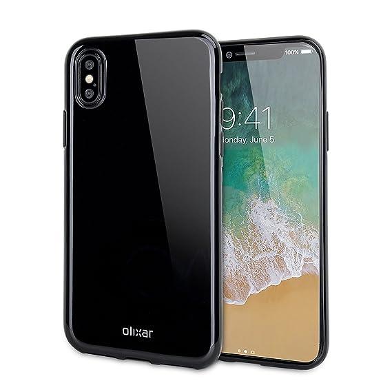 premium selection a79da 50f9e Olixar Jet Black iPhone X Gel Case - FlexiShield - Wireless Charging  Compatible