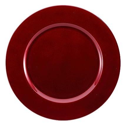 Juego de 6 Brunchfill rojo redondo bajoplatos a juego decorativo menores de- platos cfc944751b2d