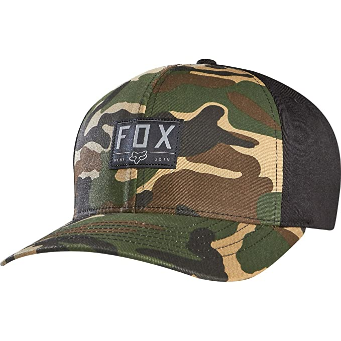 52a7a821ff105 ... order fox racing youth boys linger flexfit hat camo one size 8d6a4 218f4