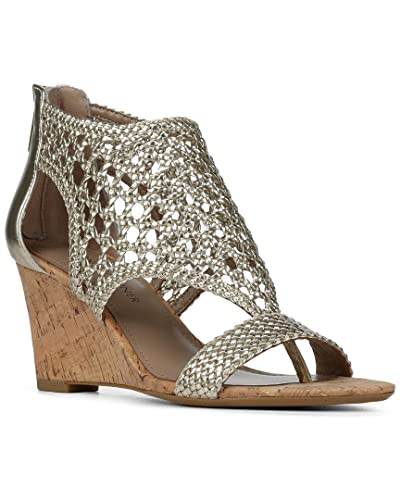 1ccf19d8dee Amazon.com  Donald J Pliner Womens Joli-33 Leather Wedge Sandals Gold 8  Medium (B