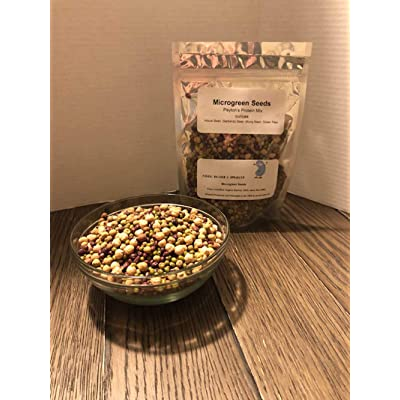 """COOL BEANS n SPROUTS"" Brand, Peyton's Protein Mix Seeds for Sprouting Microgreens, 8 Ounces, A superfood Packed with antioxidants. A Small Town Family Run USA Business.Thank You ! : Garden & Outdoor"