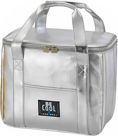 Borsa termica elegante Be Cool argento 29x 18 x 21 cm