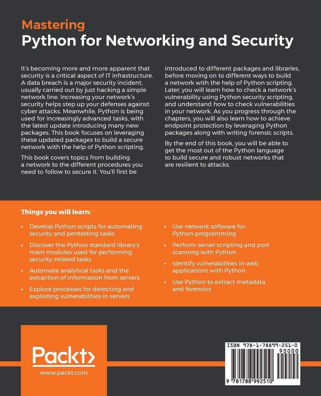 Mastering Python for Networking and Security: Leverage
