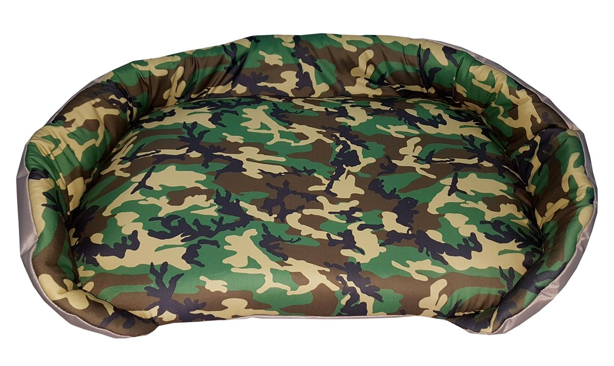 Caseta/banqueta para animales con impresión Militar Verde, un solo panel: Amazon.es: Hogar
