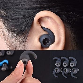 3 pairesLot SML en silicone Ecouteurs intra auriculaires Embouts auriculaires Coque avec crochet d'oreille pour JBL Reflect Sports Bluetooth