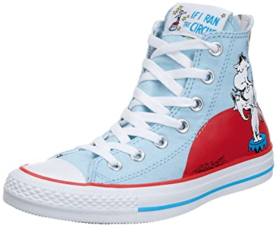 2ad4b195df9c Converse Unisex Adult Chuck Taylor All Star Print Dr Seuss Elephants Blue  Red White