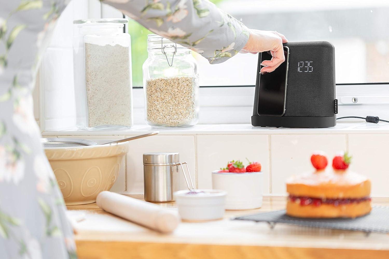 Noir KitSound XDOCK 4 Radio R/éveil Alarme avec Station dAccueil avec Bluetooth et Connexion Lightning Compatible avec iPhone 6//6s//6 Plus//7//7 Plus//8//8 Plus et iPhone X