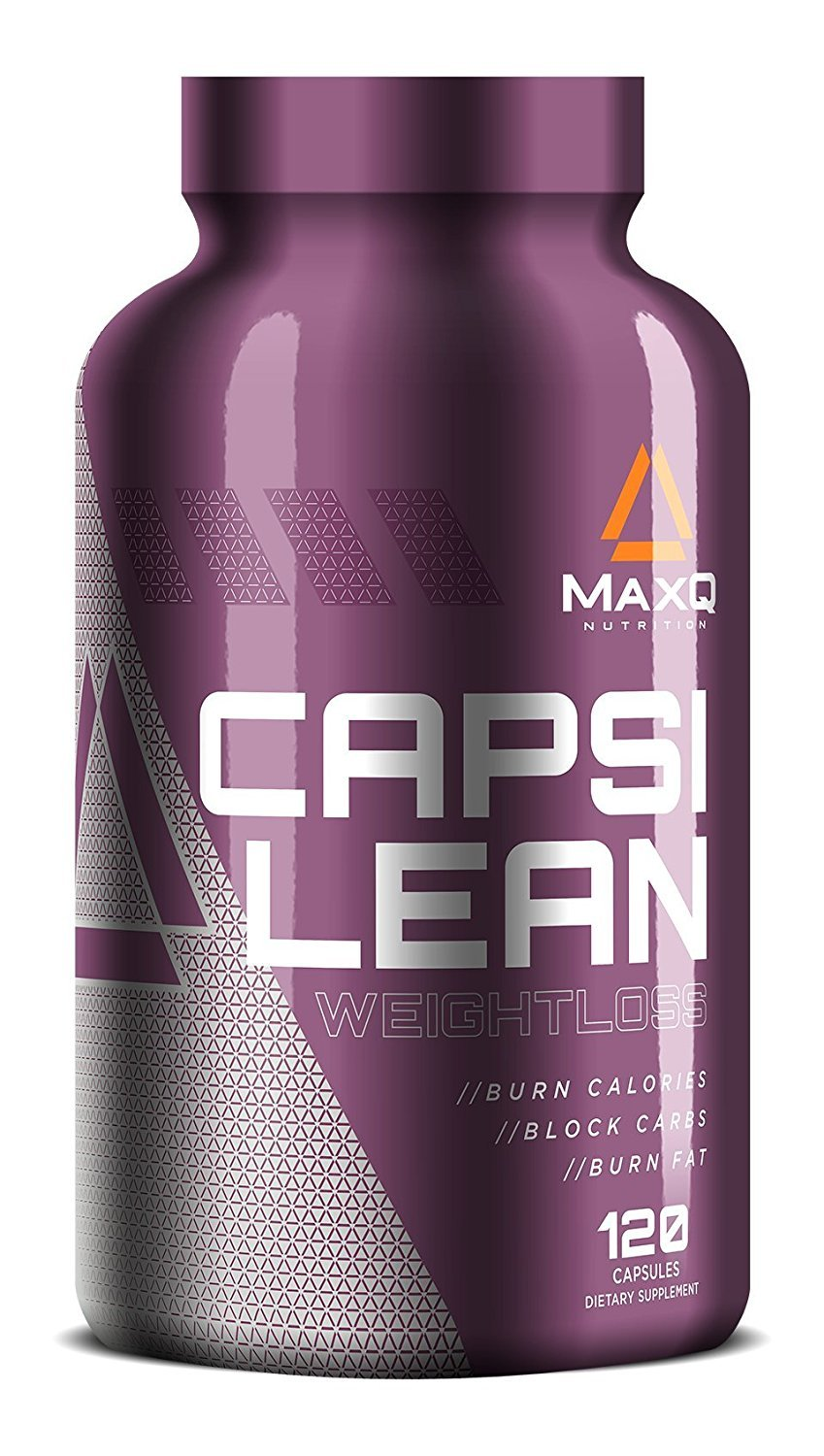 MaxQ Nutrition CapsiLean Weight Loss Pills for Women or Men. Stimulant-free fat burner. Natural Thermogenic Diet Pill: Reduce belly fat, Carb Blocker and Appetite Suppressant. 120 Veggie Caps