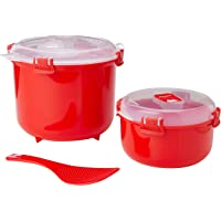 Sistema Magnetron rijstkoker (2,6 liter) & ronde magnetron voedselcontainer (915 ml) | BPA-vrij