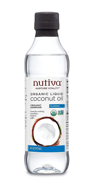Nutiva Organic, Unrefined, Liquid Coconut Oil, 16-ounce