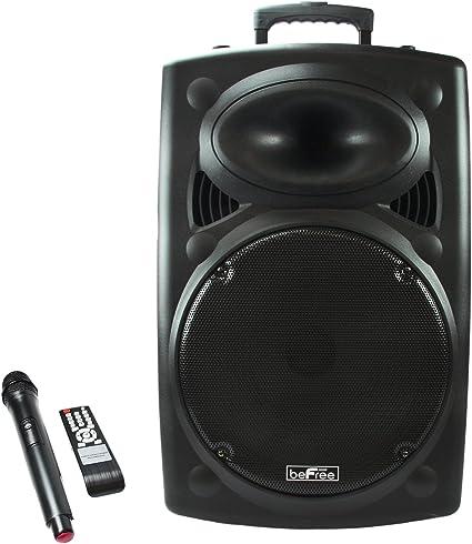 "New BeFree Bluetooth 1200W 10/"" Subwoofer PA Speaker FM Radio USB//SD MIC Remote"