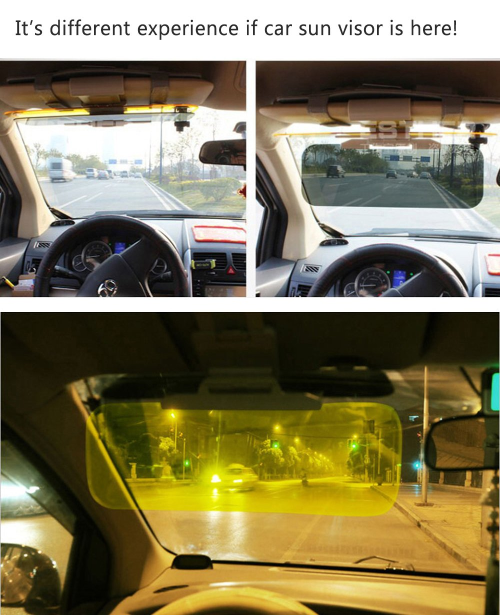 Vnown Transparent Car Sun Visor Extenderwindshield 1955 Dodge Truck Day And Night Anti Glare 2 In 1 Automobile Sunshade Mirror Goggles Shield