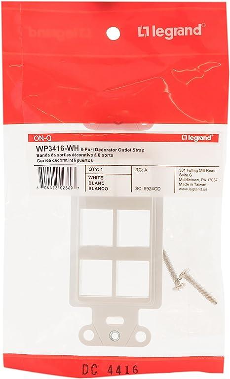 White 4 Port Decorative Strap