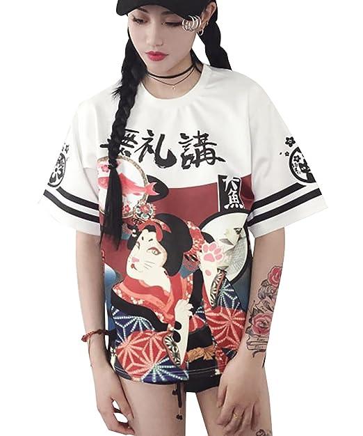 Loralie Girls Camiseta Holgada de Manga Corta de Estilo ...