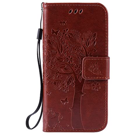 pinlu® Flip Funda de Cuero para Sony Xperia M5 5