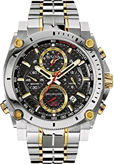 New Bulova 98B228 Precisionist Chronograph Two Tone Stainless 300M Mens Watch