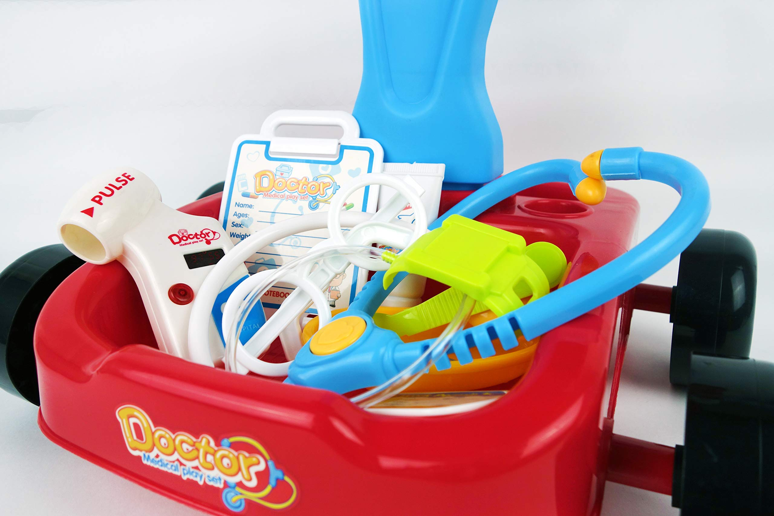 NBD Corp Kids Toy Portable Doctor Set, 17 Piece Set with Play Screen and Play Doctor Instruments by NBD Corp (Image #5)