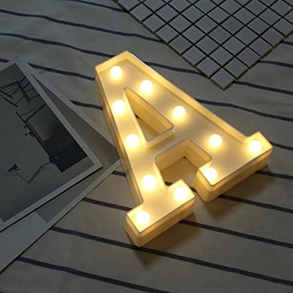Amazon.com: Hot Sale Alphabet LED Letter Lights, Keepfit Light Up ...