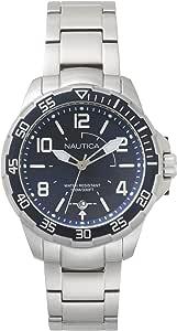 Nautica Mens Quartz Watch, Analog Display and Stainless Steel Strap NAPPLH004