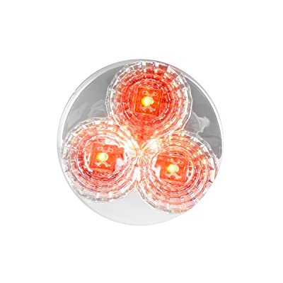 "GG Grand General 77693 Red/Clear LED Light (2.5"" Spyder Beehive 3, Lens): Automotive"