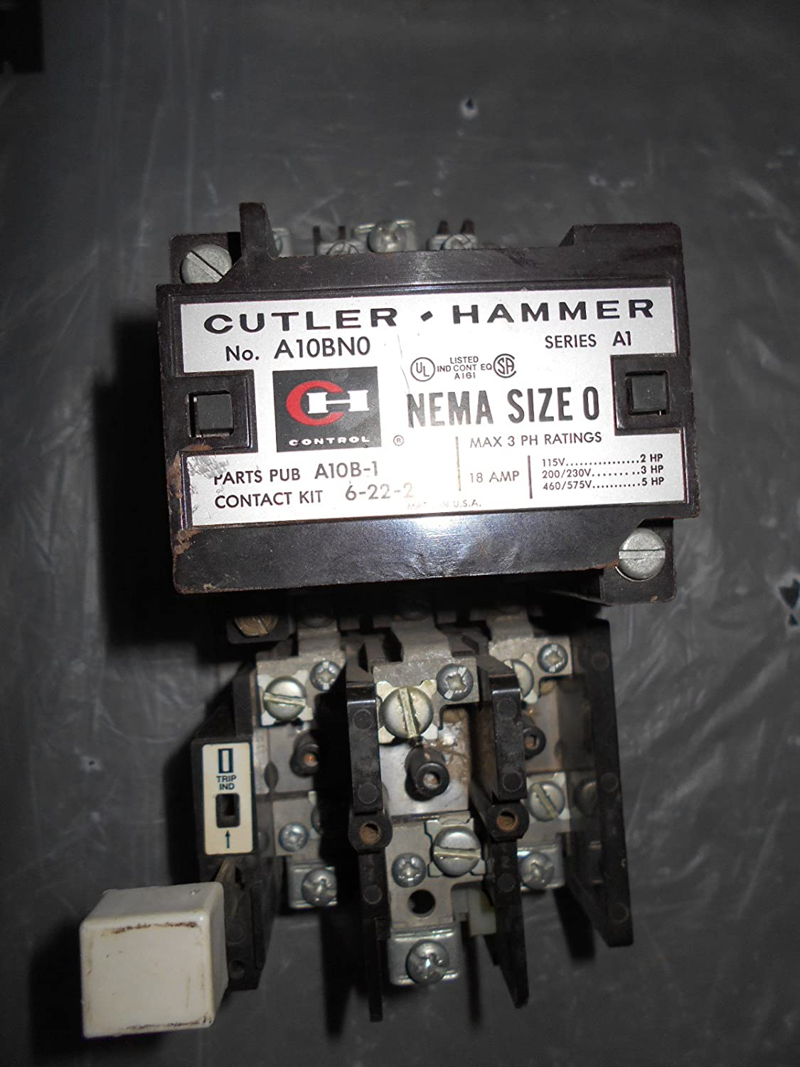 A10bn0t Citation Starter Nema Size 0 3 Pole 110 120v 50 60hz Cutler Hammer Gfci Circuit Breaker 2 20amp Gfcb220 18 Amp Industrial Scientific