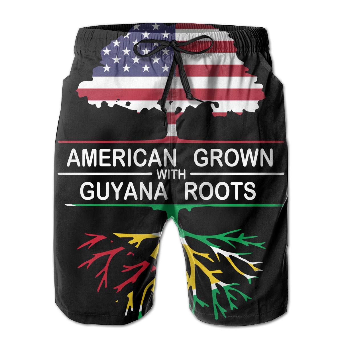 STDKNSK9 Mens American Grown with Guyana Roots-1 Board Shorts Beach Pants