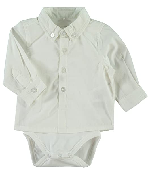 NAME IT - Ropa de bautizo - Manga Larga - para bebé niño Blanco Brillante 62