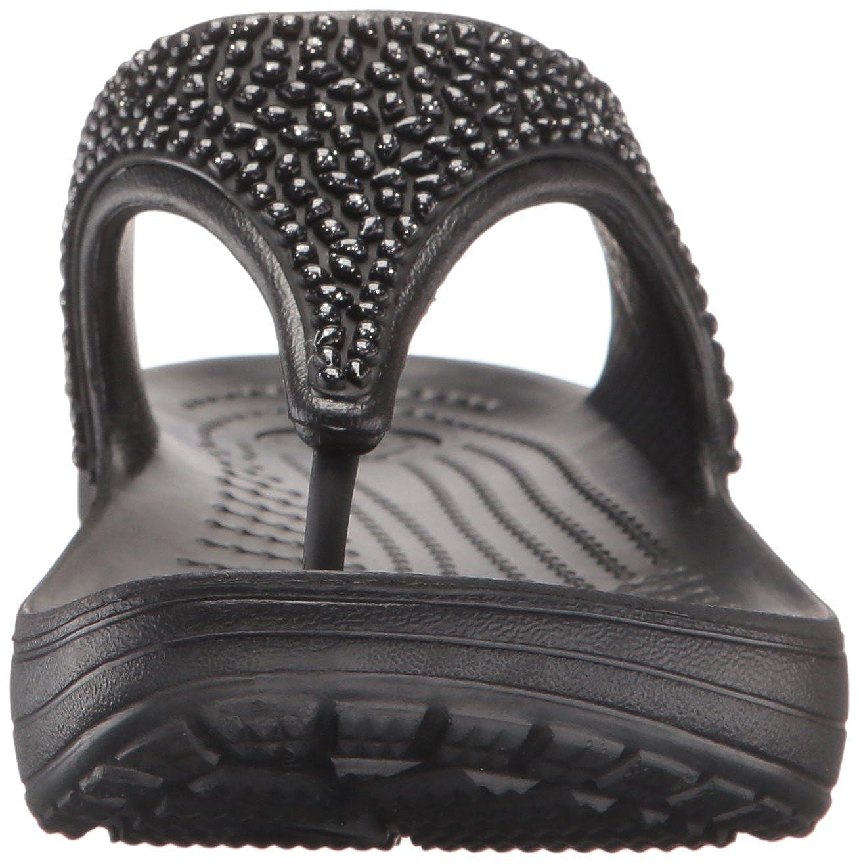 Crocs Plateau Damen Sloane Embellished Flip Plateau Crocs Sandalen Schwarz (schwarz/schwarz 060) bf0443