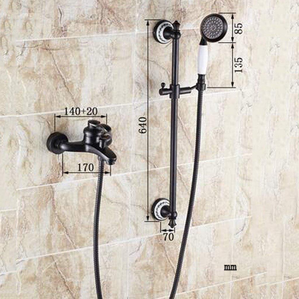 WW Juego de ducha negro antiguo grifo de la ducha Juego de ducha ...