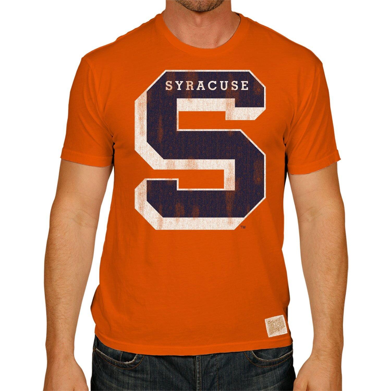 Retro Brand Syracuse Orange Men s Tri Blend Orange S S S T Shirt at