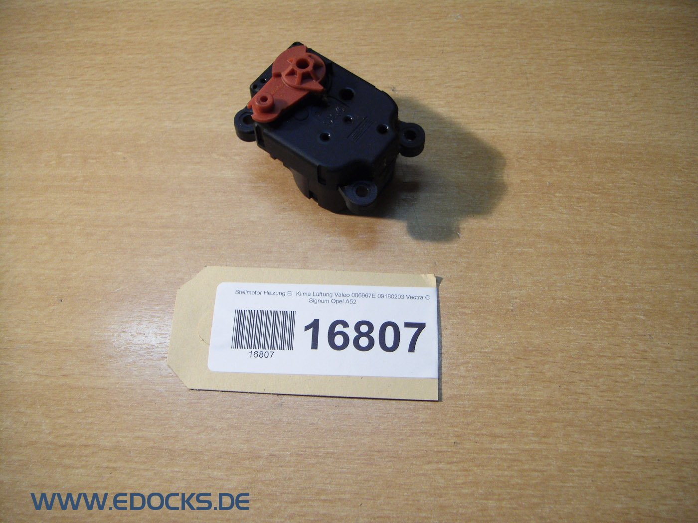 Stellmotor Heizung El Klima L/üftung Valeo 006967E 09180203 Vectra C Signum Opel