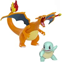 """Pokémon 4.5"""" Charizard and 2"""" Squirtle 2pk"""