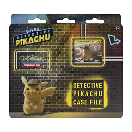 Pokemon TCG: Detective Pikachu Case File + 3 Booster Pack + A Promo Card + A Metallic Coin