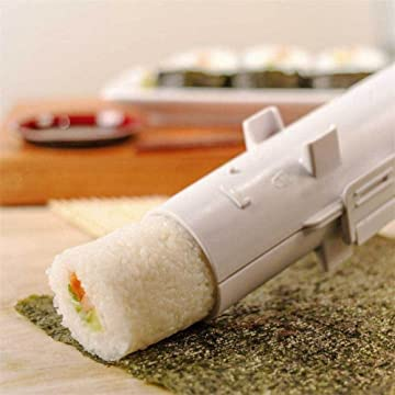 EXZACT EX-SM01 Sushi Maker//Bazooka Roller//Rice Mold//All in 1 DIY Sushi Making