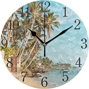 Amazon.com: senya Wall Clock Silent 9.5 Inch Battery