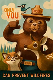 product image for Smokey Bear, Only You, Oil Painting 78092 (12x18 SIGNED Print Master Art Print, Wall Decor Poster)