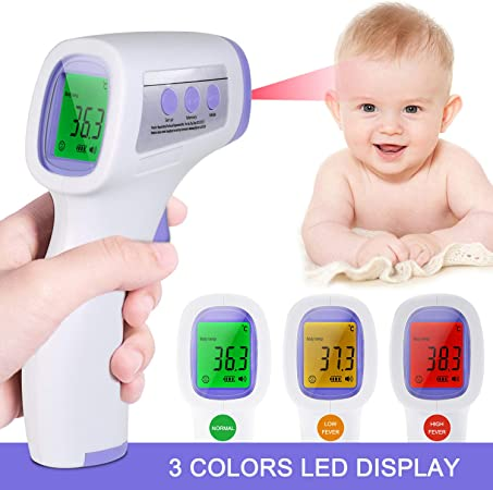 Forehead Handheld Instant Read Thermometer with Fever Alarm for Baby Infants Toddlers and Adults Infrared Digital Non-Contact Thermometer