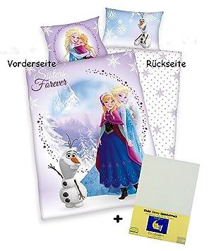 3 Tlg Baby Bettwäsche Wende Motiv Eiskönigin Sisters Mit Anna