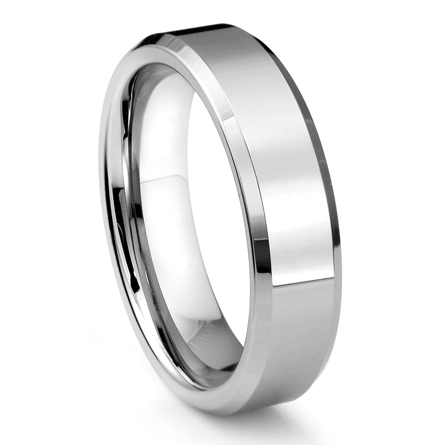 amazon wedding ring polished band mens com s men tungsten size dp bands