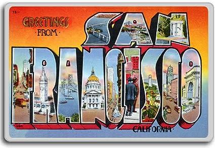 Amazon greetings from san francisco california vintage 1940s greetings from san francisco california vintage 1940s postcard fridge magnet m4hsunfo