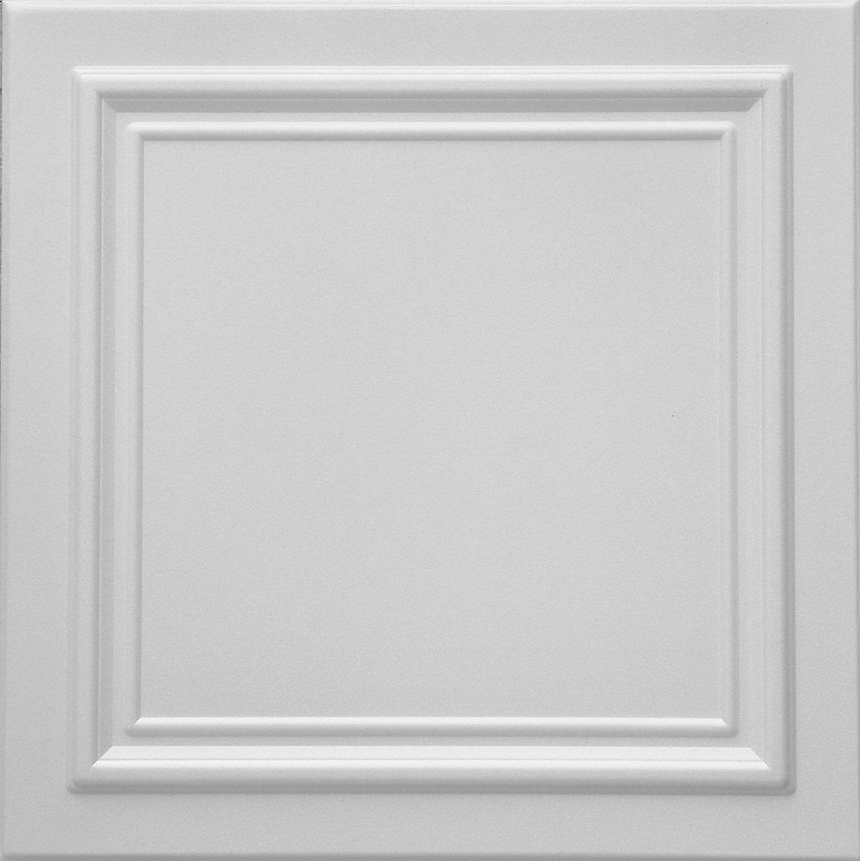 RM-24 Polystyrene (Styrofoam) White ceiling tile to cover popcorn (Pack of 48 tiles). Easy paintable. Easy DIY glue up application on any flat surface or popcorn ceiling. Decorative ceiling panels.