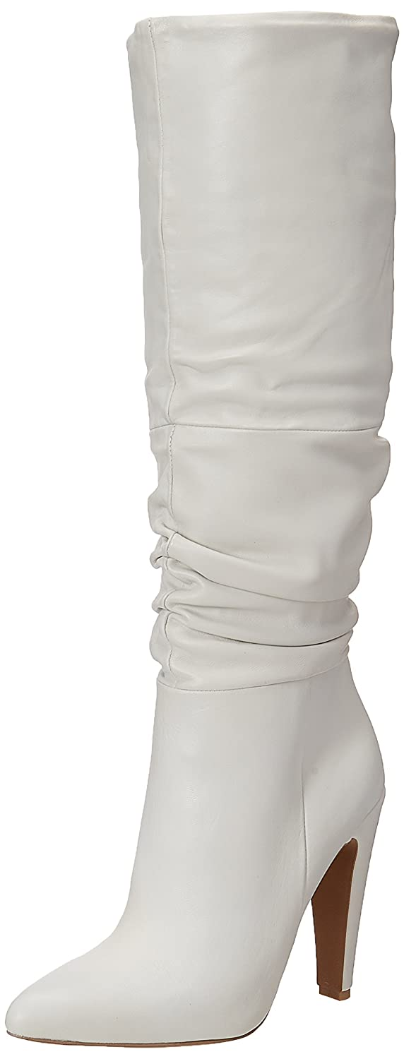 Steve Madden Women's Carrie Fashion Boot B0736J7B8W 7.5 B(M) US|White Leather