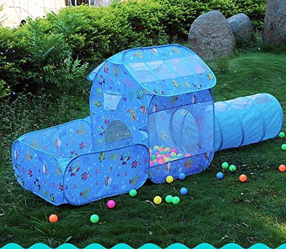 Amazon.com: XIAO&Z Childrens Play Tent Tunnel Playground 3 ...