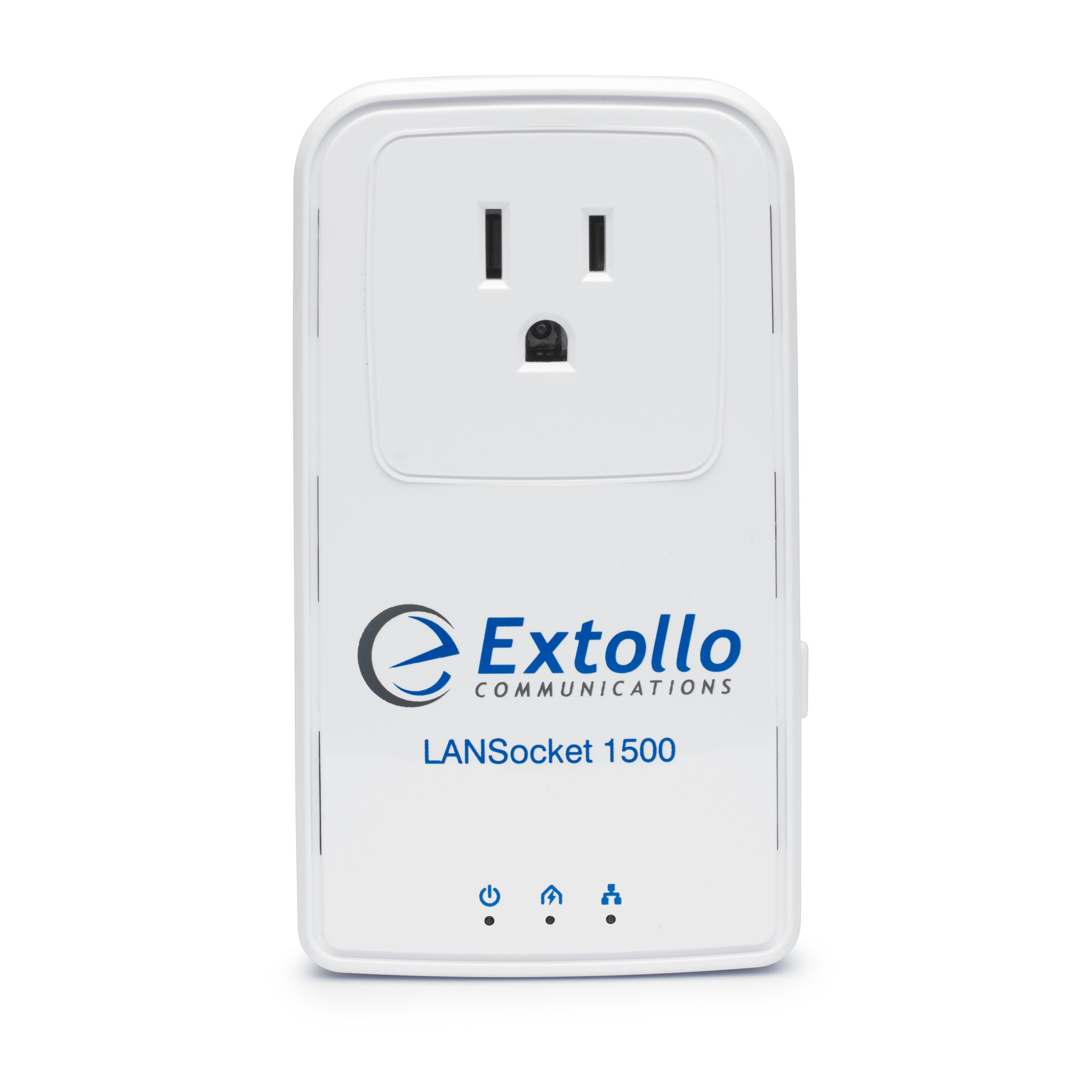 Extollo Ethernet Powerline LANSocket 1500 HomePlug AV2 MIMO 2 Gbps Adapter Kit by Extollo Communications