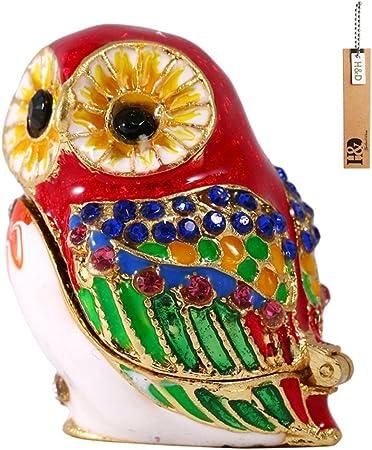 Desconocido H & D – Figura decorativa de búho (pintado a mano caja de joyería, anillo Soporte: Amazon.es: Hogar