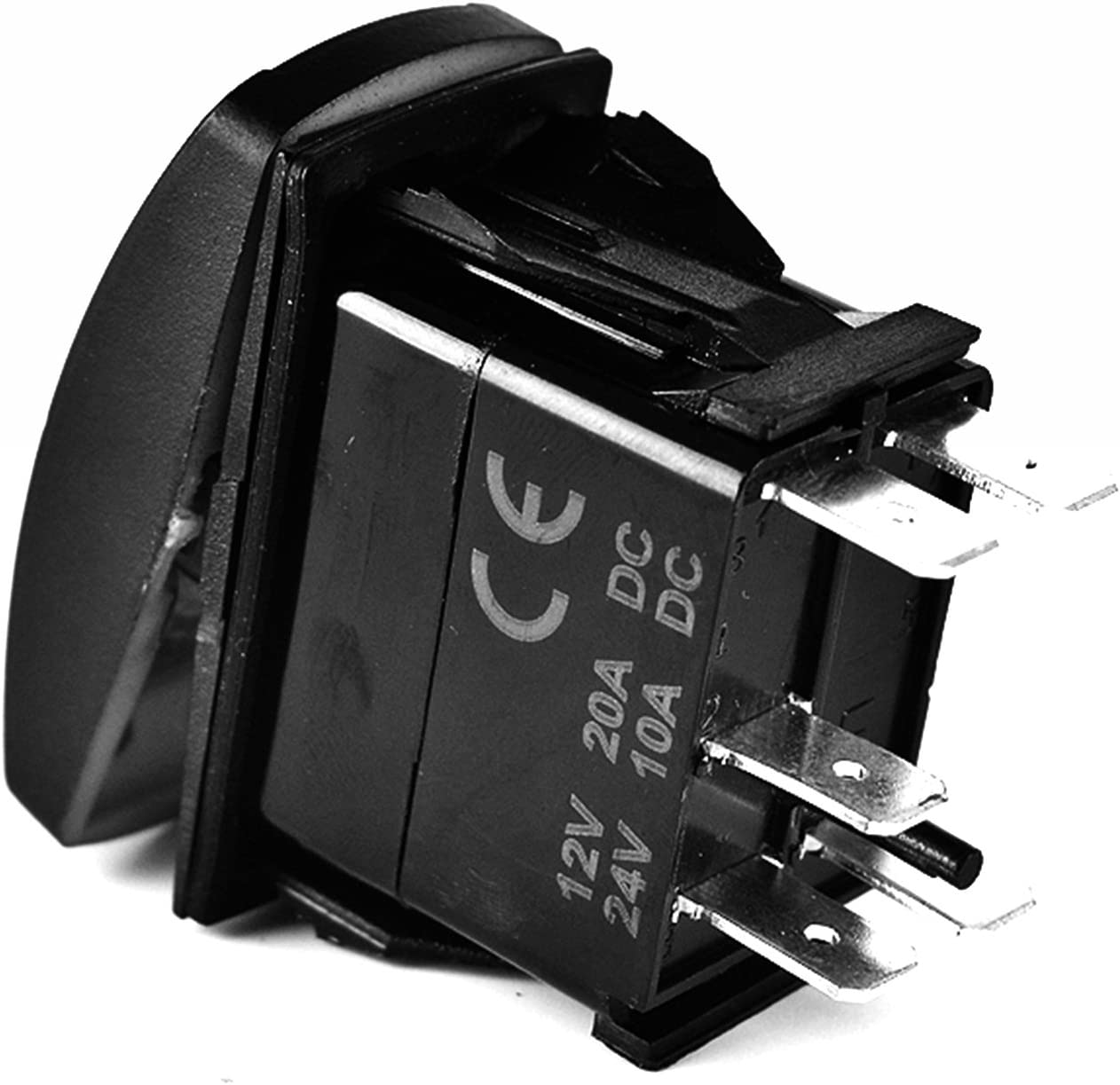ORANGE Bright Light Powersports BEER TIME- Universal On//Off 12 Volt Laser Rocker Switch