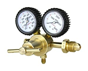 "SÜA - Nitrogen Gas Regulator 0-600 PSIG - HVAC Purging - Pressure Charge - 1/4"" Flare Connector"