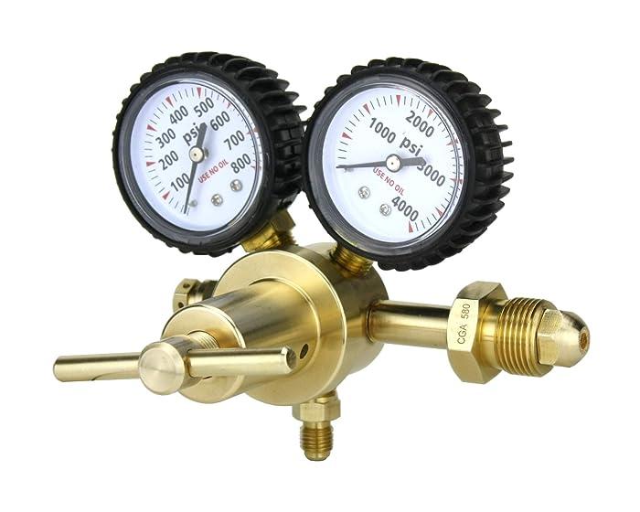"""SÜA - Nitrogen Gas Regulator 0-600 PSIG - HVAC Purging - Pressure Charge - 1/4"""" Flare Connector"""
