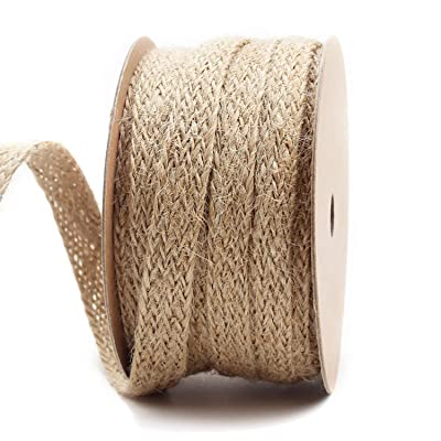 LaRibbons 0.47 inch Burlap Braided Hemp Rope String Hessian Ribbon Rope Party Craft Decor, 10 Yards: Arts, Crafts & Sewing